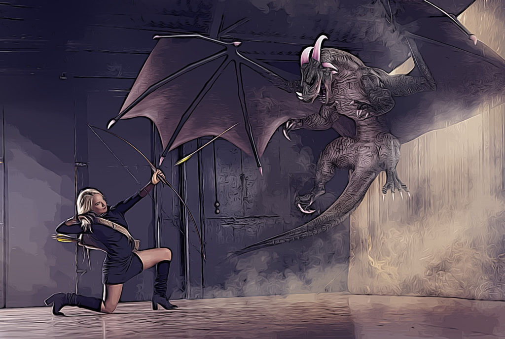 Un dragon et une femme