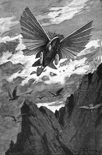 Illustration des Maîtres du monde, de Jules Verne, par George Roux
