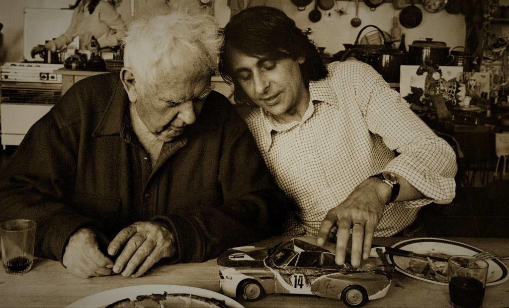 Alexander Calder et Hervé Poulain Jouet BMW à l'origine du projet 1975 à Sachet - ...